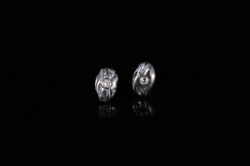 Silver & Diamond Earrings