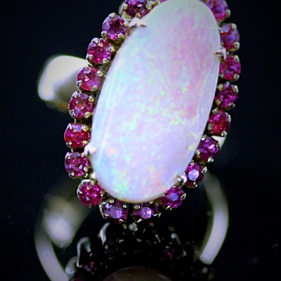 Opal Ruby & Gold Ring