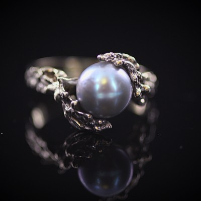 Tahitian Pearl White Gold Ring