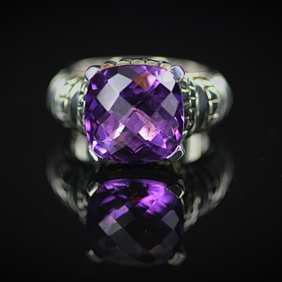 Silver Amethyst Ring