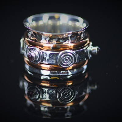 Silver & Copper Ring