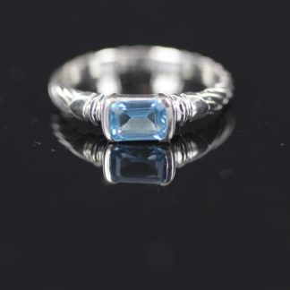 Silver & Blue Topaz Ring
