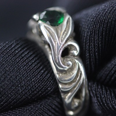Silver & Emerald Ring