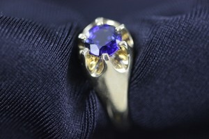 Tanzanite & Gold Ring